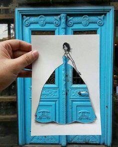 #fashion #Art #blue #mavi #drawing