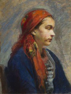 Leon Wyczółkowski - Dziewczyna w chuście