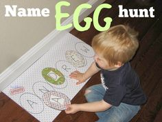 Toddler Approved!: Name Egg Hunt