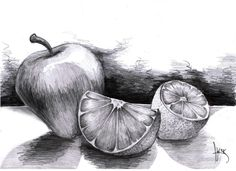 still Still Life Fruit Drawing life drawing of fruits pencil - Art Still Life Sketch, Still Life Drawing, Pencil Art Drawings, Drawing Sketches, Drawing Ideas, Sketching, Charcoal Drawings, Fruit Sketch, Vegetable Drawing