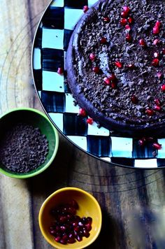 Flourless Date Chocolate Cake is perfect for Christmas Dinner dessert and Gluten-Free! ReluctantEntertainer.com