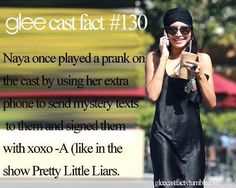 Glee cast facts                                                                                                                                                     More