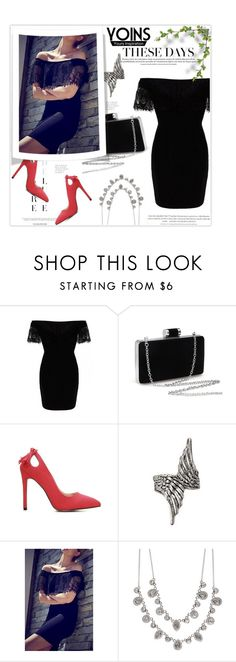"""Yoins:Off Shoulder Dress"" by khansaba ❤ liked on Polyvore featuring Givenchy and yoins"