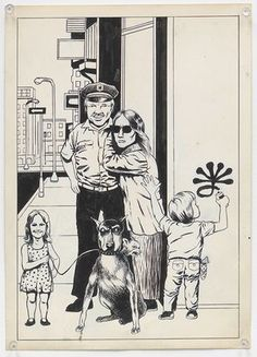 Untitled (Police officer and family), ca. 1980s