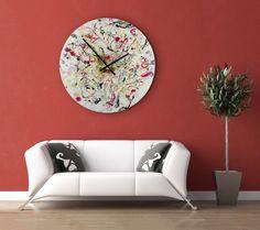 Abstract Wall Light, Luxury Apartment Decor, Oversized wall clock, Large Clocks…