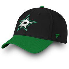 5a96285c298 Men s Dallas Stars Fanatics Branded Black Kelly Green Iconic Tech Speed  Flex Hat