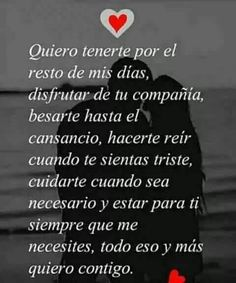 we have passionate phrases and images of love for passionate lovers! Phrases of love, affection, romantic, To share on social networks . Amor Quotes, Words Quotes, Life Quotes, Spanish Quotes Love, Love Quotes For Him, Best Quotes, Funny Quotes, Ex Amor, Love Breakup