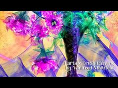 Corel Painter 2015 Particle Brush Painting - by Winifred Whitfield - YouTube