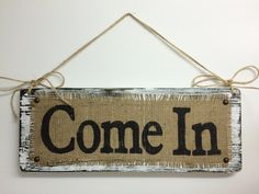 Business BURLAP Sign, OPEN Come In, two sided, Shop Decor, Boutique BURLAP… Boutique Names, Boutique Decor, A Boutique, Boutique Ideas, Shabby Chic Signs, Shabby Chic Style, Storefront Signs, Burlap Signs, Cabin Signs