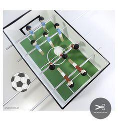 Upcycling Mini-Tischfußball