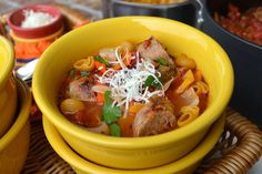 Italian Sausage Soup {with Mushrooms, Onions & Peppers}