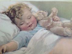 Vintage Baby Sleeping Print Bessie Pease Gutmann Happy Dreams