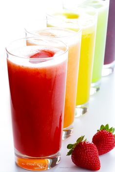 Learn how to make a traditional agua fresca drink using any of your favorite fresh fruits! It only takes a minute to make, and this recipe is naturally-sweetened and SO delicious. | gimmesomeoven.com