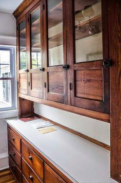 We bought an old, white farmhouse. It has great bones. It's hard to believe we moved out of our little blue h... #homebarfurniture