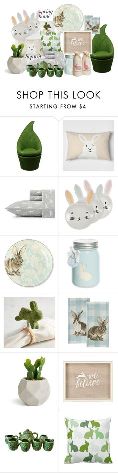 """BunnyDecor"" by smile-my ❤ liked on Polyvore featuring interior, interiors, interior design, home, home decor, interior decorating, ORE, Williams-Sonoma, Pier 1 Imports and happy"