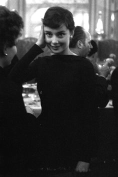 Audrey Hepburn in Paris, France, March 03, 1955.