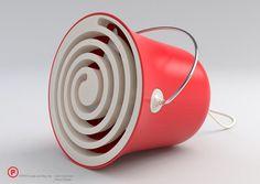 A bucket of fresh air (desk & floor fan) Design: Iván Colominas/Marco Fossati Mini Cooler, Cute Blankets, Desk Fan, Slow Living, Vintage Design, Italian Style, Industrial Design, Inventions, Modern Design