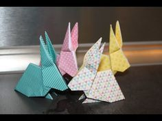 Comment faire des lapins origami ???