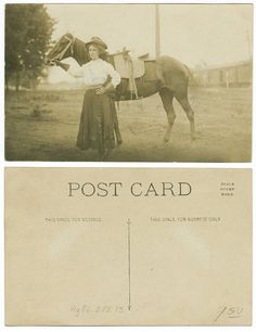 U.S. West: [Cowgirl standing with horse] by SMU Central University Libraries, via Flickr