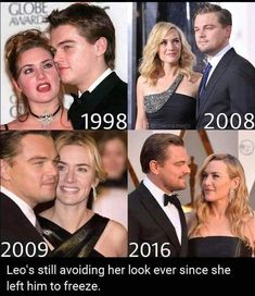 Leo ignoring Kate since 1998 - Humour Spot Leonardo Dicaprio Kate Winslet, Leonardo Dicaprio Meme, Leonardo And Kate, Kate Winslet And Leonardo, Funny Meme Pictures, Funny Memes, Leo And Kate, Cultura Pop, Top Funny