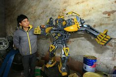 Unbelievable Life-Size Transformers Made Out Of Scrap Metal And Car Parts – The Awesome Daily - Your daily dose of awesome