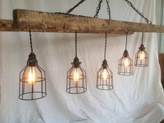 Rustic Barn Ladder Chandelier with 5 Edison Bulb Lights Country Kitchen Lighting, Country Kitchen Island, Farmhouse Lighting, Rustic Lighting, Bar Lighting, Industrial Lighting, Edison Bulb Chandelier, Driftwood Chandelier, Chandelier Ceiling Lights