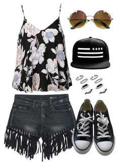 Hippie by nikita-tuteja on Polyvore featuring Ally Fashion, Sans Souci, Converse and Topshop