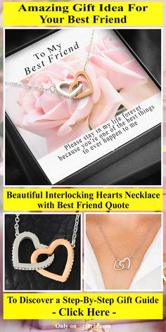 Looking for a thoughtful gift idea for your best friend? Then good news for you! This stunning necklace with friendship quote is just the perfect gift idea for your bff. Be it for your best friend's birthday or as a Christmas present - This is an amazing gift idea for her. It is also an awesome present for anniversaries. You can't go wrong with this. For a step-by-step guide - Click on the link!  #bestfriend #bff #gift_idea #friendshipquote #jewelry #necklace End Of Friendship, Friendship Quotes, Friend Friendship, Beautiful Love Quotes, Have A Beautiful Day, I Am Awesome, Amazing, Creative Gifts, Step Guide