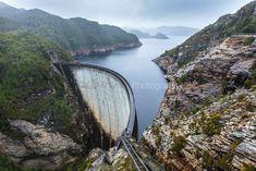 Gordon River Dam, Lake Pedder, Strathgordon, in the Gordon River National Park (Western Wilderness) Tasmania, Australia