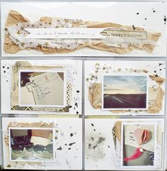 project life - layered paper behind photos… great idea