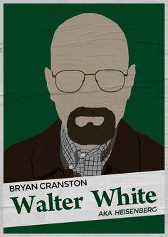Bryan Cranston as Walter White aka Heisenberg - Breaking Bad (2008 - 2013) - Minimalist Style by Adriano Defendi
