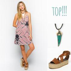 So trendy... #nicoli #nicolimoda #fashion #moda #cool #nice #cute #awesome #trendy #lomasin #newcollection #summer #spring http://www.nicoli.es/tienda/Vestido-tirantes-tie-dye-rosa-gris.html