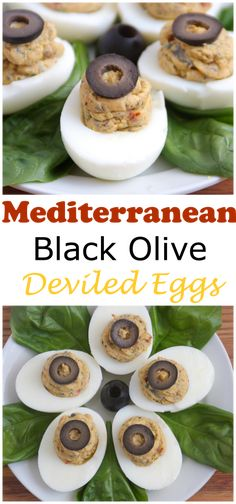 Mediterranean Black Olive Deviled Eggs