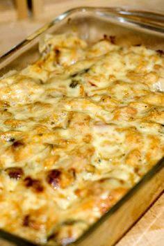 Cracker Barrel's Hashbrowns Casserole - Copycat Recipe  Add chicken and veggies for a complete meal - sprinkle with bacon
