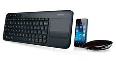 The new Logitech Harmony Smart Keyboard - searching for shows in your living room has never been so fast.
