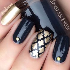 Get your golden Moroccan style on✨ Manicure by the talented @Melcisme - Moroccan #NailVinyls  www.snailvinyls.com