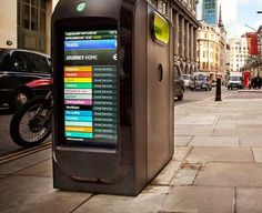 Technological Trash Cans - The 'Techno-Pods' Garbage Bin Design Gives Updates on LED Screens (GALLERY)