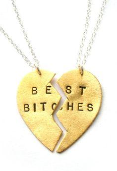 Best Bitches Friendship * BFF * Necklace Set <3