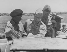 General Montgomery study the maps of operations in Sicily - Italy 1943 Bernard Montgomery, George Patton, Field Marshal, Sicily Italy, World War Two, Wwii, Horror, Maps, Painting