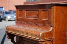 Old piano - closed stock photo