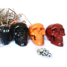 Check out our halloween decor selection for the very best in unique or custom, handmade pieces from our shops. Creepy Halloween Decorations, Halloween Skeletons, Halloween Skull, Halloween Party Decor, Day Of The Dead Party, Skull Decor, Home Decor Inspiration, House Colors, My Etsy Shop