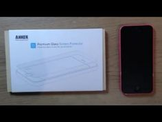 Anker premium glass screen protector iphone 5c review & installation