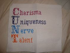 For RuPaul's Drag Race: Charisma, uniqueness, nerve and talent! Keep it tight!