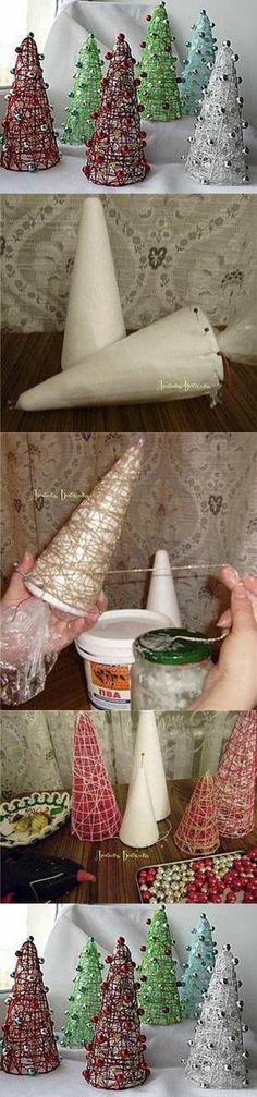 Adornos de Navidad DIY                                                                                                                                                                                 Más