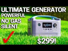 Ultimate GENERATOR - Ecoflow R600 Portable Powerhouse - YouTube Portable Power Generator, Portable Solar Power, Portable Battery, Battery Generator, Diy Greenhouse, Camper Conversion, Wind Power, Homestead Survival, Emergency Preparedness