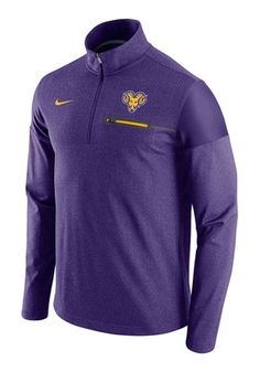 Nike West Chester Golden Rams Mens Purple Elite Coaches 1 4 Zip Pullover  Chester de7255d0a