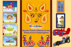 Navratri Theme: 9 Games for the 9 Days at your shopping place.