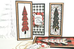 """Lumberjack Christmas"" Spinner Shaker Cards by Michelle Zerull for #EchoParkPaper"