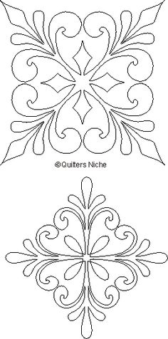 Quilting designs, but could be cut into leather as well Quilting Stencils, Quilting Templates, Stencil Patterns, Stencil Designs, Longarm Quilting, Free Motion Quilting, Hand Quilting, Tile Patterns, Applique Designs