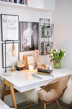 Home office inspiration Cozy Home Office, Home Office Space, Home Office Design, Home Office Decor, Home Office Table, Interior Office, Desk Office, Office In Bedroom Ideas, Office Furniture